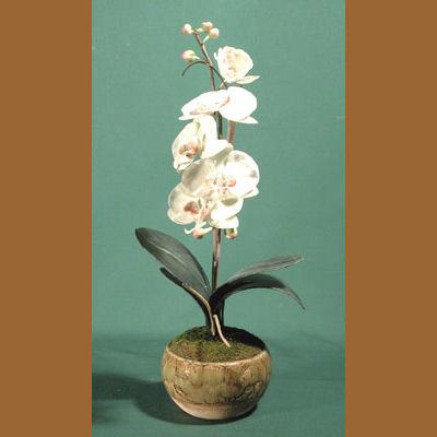 Decoracion para el hogar flores artificiales en maceta - Tiestos para orquideas ...