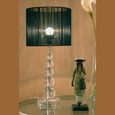 Iluminacion lamparas de mesa de cristal villalba for Lamparas de mesa de cristal