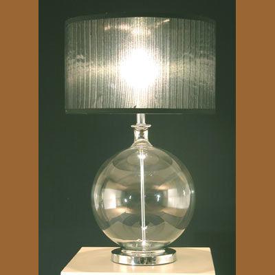 Iluminacion lamparas de mesa de cristal villalba - Lamparas con botes de cristal ...