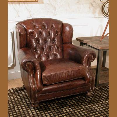 Decoracion mueble sofa sillon orejero piel - Sillon orejero ingles ...