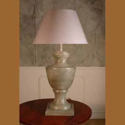 Iluminacion lamparas de mesa de madera villalba - Como hacer una lampara de pie artesanal ...